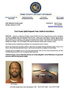 Press Release Gun Seizure 1/22/2018