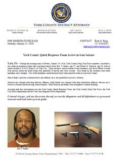 Press Release Gun Seizure 1 22 18