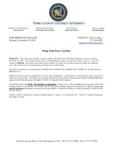 Drug Task Force Auction