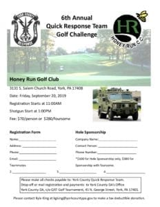 2019 QRT Golf Tournament Flyer