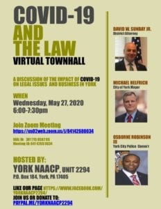 COVID-19 And The Law Virtual Town Hall